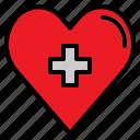 cardiology, coronary, heart, medical icon