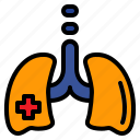 lungs, medical, pulmonary, respiration icon