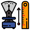 measurement, medical, meter, scale icon