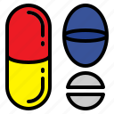 drugs, medical, medicines, pills icon