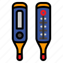 high, medical, temperature, thermometer icon