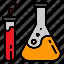 bottle, laboratory, medical, tube icon