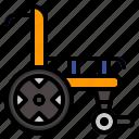 help, invalid, medical, wheelchair icon