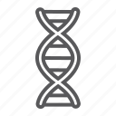 biology, chromosome, dna, genetic, medicine, molecule, science icon