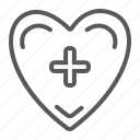 cross, health, heart, medical, medicine icon