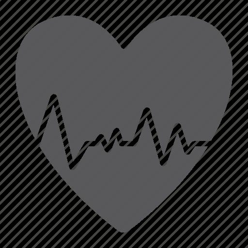beat, cardiogram, cardiology, ecg, heart, heartbeat, pulse icon