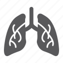 anatomy, biology, body, human, lung, lungs, organ icon