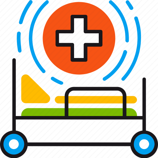 Bed, hospital, clinic, emergency, gurney, health, medical icon - Download on Iconfinder