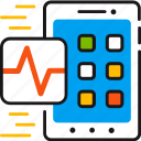 app, health, healthcare, medical, mobile, smartphone icon