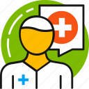 consultation, doctor, health, healthcare, hospital, medical, medicine icon