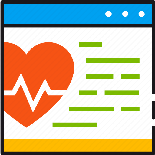 cardiogram, chart, health, heart, information, medical, online icon