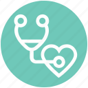 diseases, stethoscope, defect, medical, heartbeat, heart, checking
