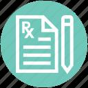 medical, medical report, pencil, records, report