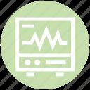 ecg, health, heartbeat screen, lifeline, machine, medical, monitor