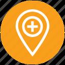 hospital, hospital location, location, medical, pin