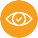 accept, eye, eye test, medical, view, vision icon