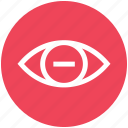 eye, eye test, medical, minus, view, vision icon