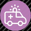 ambulance, emergency, hospital, medical, transport, vehicle