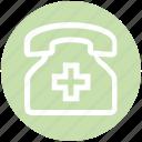 clinic, hospital, phone, telephone