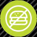 ban fast food, eat, no, prohibited burger