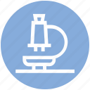 medical, microscope, research, science, test icon