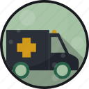 ambulance, emergency, er, hospital icon