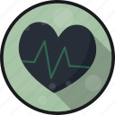 ekg, heart, heart beat, pulse icon