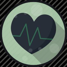 ekg, heart, heart beat, pulse icon