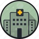 building, clinic, emergeny, hospital, practice icon