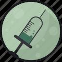 antidote, cure, medication, medicine, pharmacy, syringe