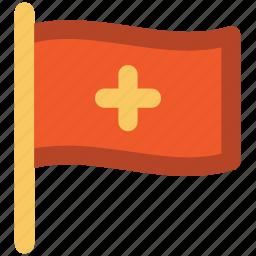 flag, healthcare, hospital flag, medical flag, medical services icon