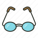 eyeglasses, eyewear, opticals, spectacles icon