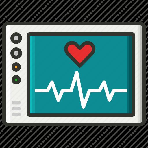 cardiogram., ecg, heart rate, heart rhythm, pulse icon