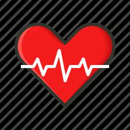 cardiac, health, heartbeat, heartrate icon