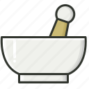 ayurveda, ayurvedic, herbal, natural, pestle icon