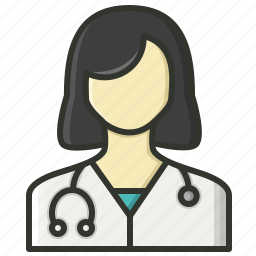 female doctor, healthcare, lady doctor, medical, nurse, physician, sisiter icon