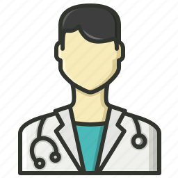 doctor, healthcare, male doctor, medical, physician, stethoscope icon