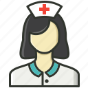 female assistant, medical assistant, nurse, physician icon