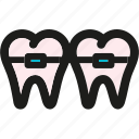 braces, dental, health, healthcare, lab, medical, medicine icon