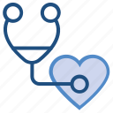 checking, defect, diseases, heart, heartbeat, medical, stethoscope icon