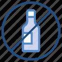 alcohol, bottle, medical, prohibition, warning icon