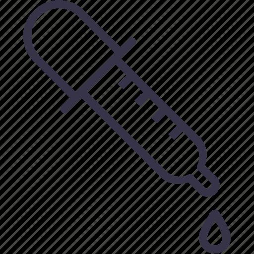 drip, dropper, medical, medicine, picker, pipette, tool icon