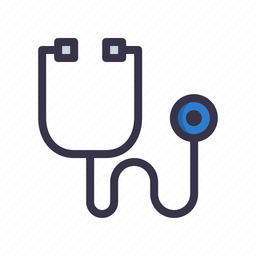 device, doctor, heart, medical, physician, stethoscope, tool icon