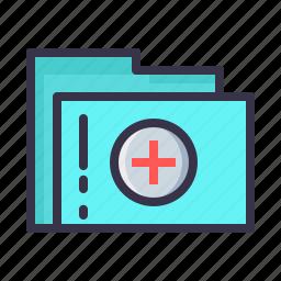 document, file, folder, hospital, prescription, report, treatment icon