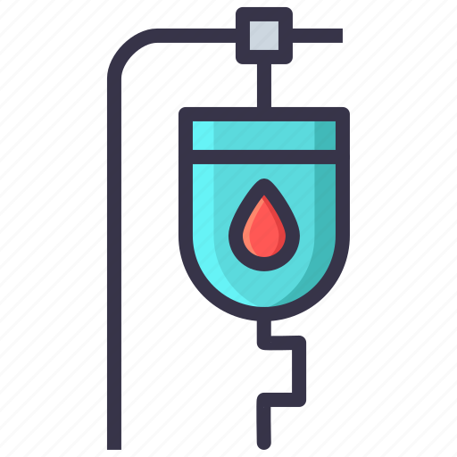 bag, bank, blood, bottle, drug, medical, treatment icon