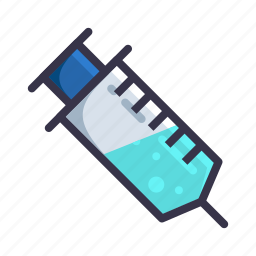 drug, injection, injectorcmedical, syringe, treatment, vaccine icon
