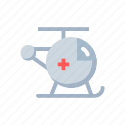 chopper, copter, emergency, flying, helicopter, medical, transport icon