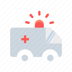 ambulance, emergency, healthcare, medical, transportation, treatment, van icon