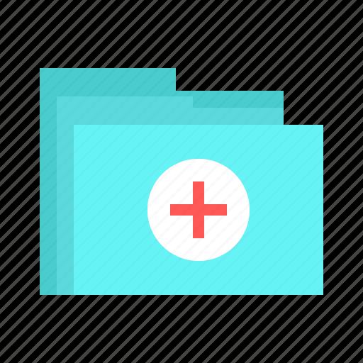 document, file, folder, hospital, priscription, report, treatment icon