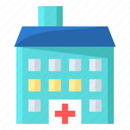 building, clinic, emergency, heathcare, hospital, medical icon